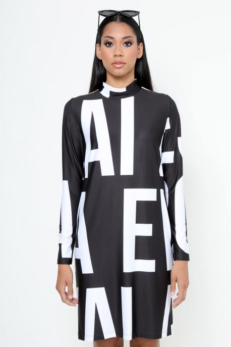 AMNESIA Atokla ruha fekete