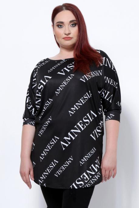 AMNESIA Ariel tunika fekete