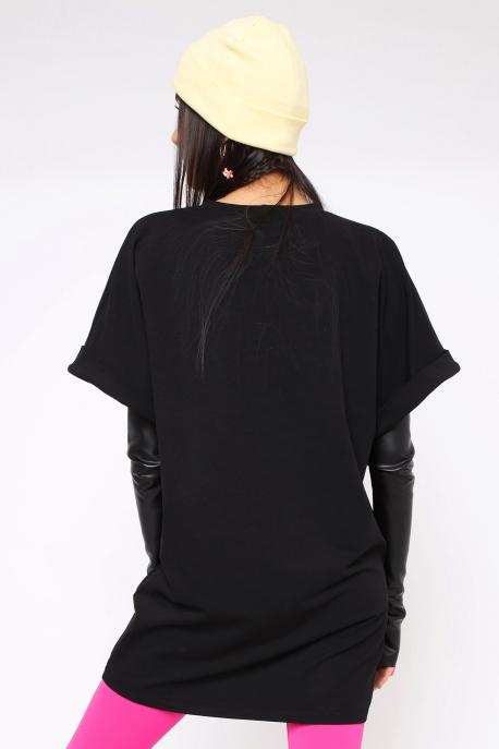 AMNESIA Dilka tunika+kesztyű fekete