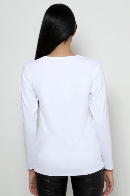 AMNESIA T-póló hosszú ujjú PRIORITY fehér