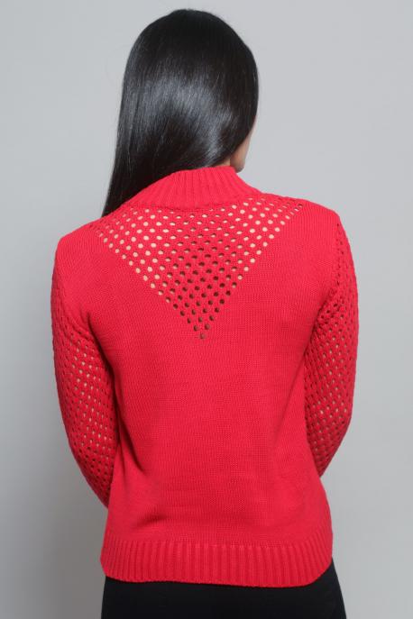 AMNESIA Lyukacsos pulcsi piros