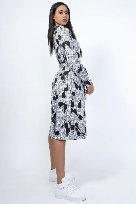 AMNESIA Ajuna-B ingruha fehér-fekete