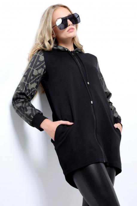 AMNESIA Jammuria pulóver khaki/fekete