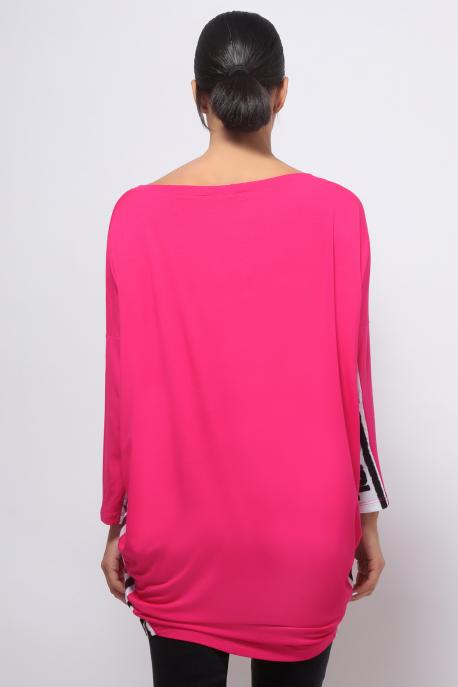 AMNESIA Betétes Bony tunika pink