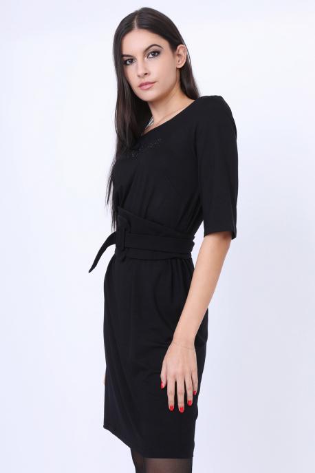 AMNESIA Arola köves ruha fekete