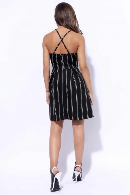 AMNESIA Vegyes ruha vékony csíkos fekete