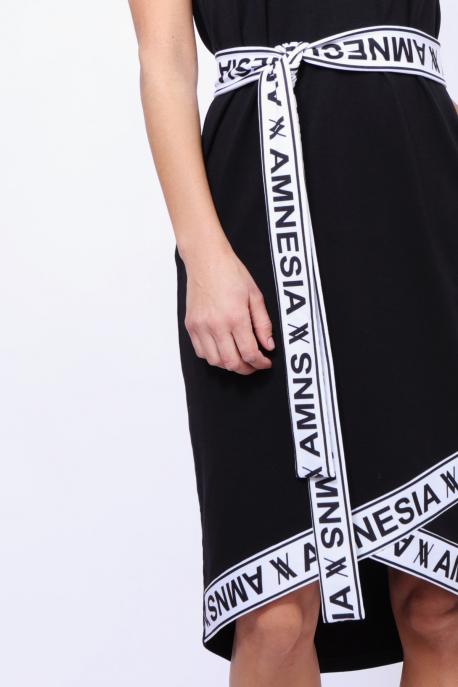 AMNESIA Ajoura ruha fekete