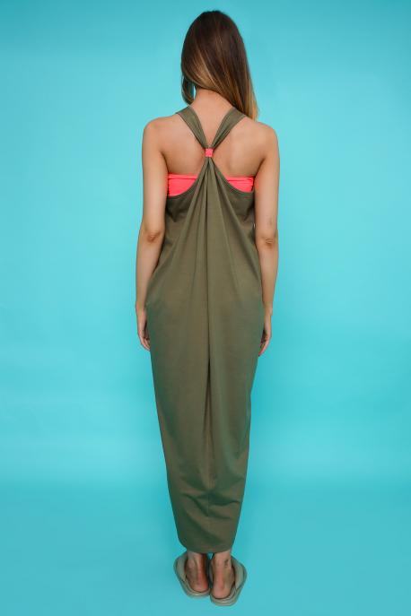 AMNESIA Ricell ruha+ top khaki/narancs