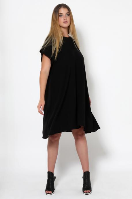 AMNESIA Jelly rövid ujjú fekete ruha
