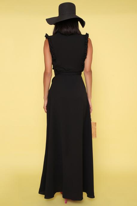 AMNESIA Jivoni hosszú ruha fekete