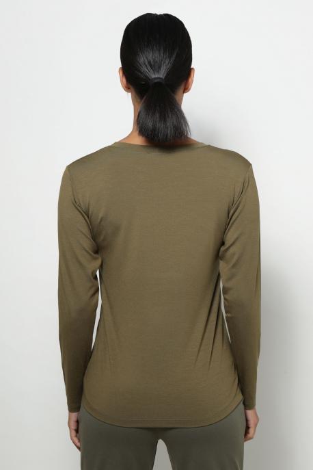 AMNESIA T-póló hosszú ujjú khaki