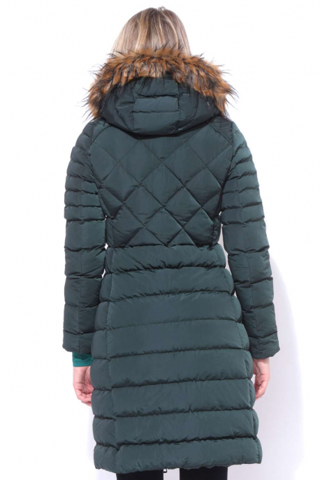 AMNESIA Diamond quilted long coat