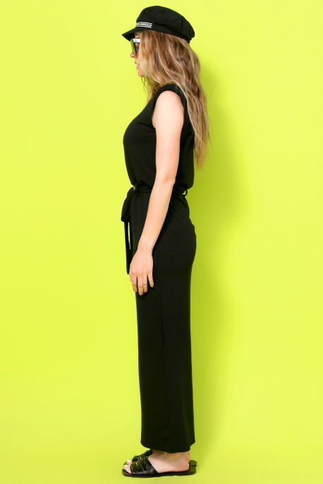 AMNESIA Tovinna ruha fekete