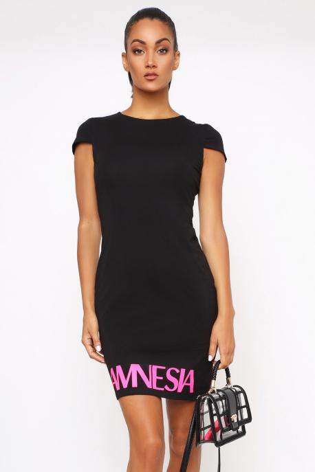 AMNESIA Gyemén ruha fekete/pink