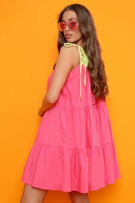 AMNESIA Teatra ruha rózsaszín/világoszöld