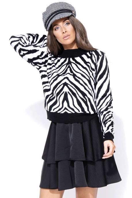 AMNESIA Zebra pulcsi