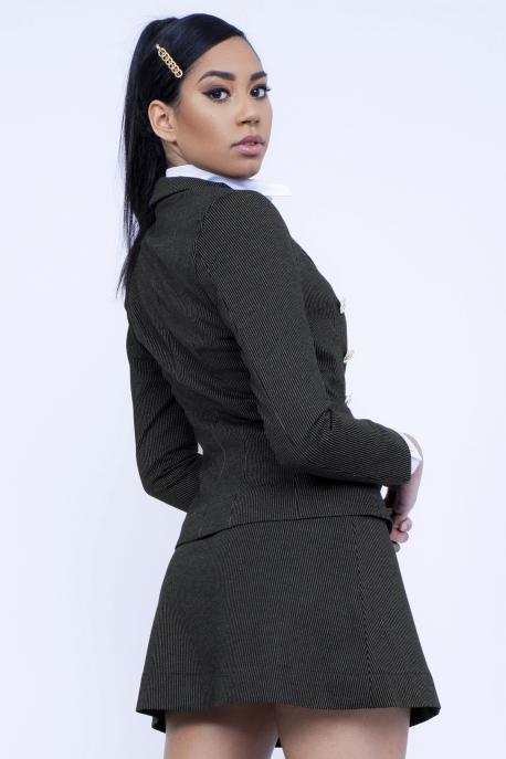 AMNESIA Ambrózia zakó+szoknya fekete