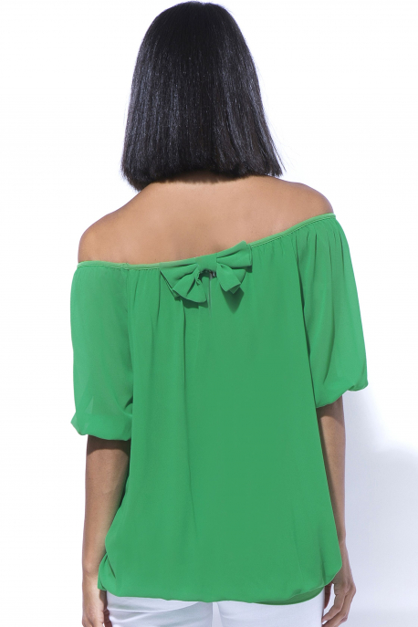 AMNESIA Masnis muszlin felső zöld