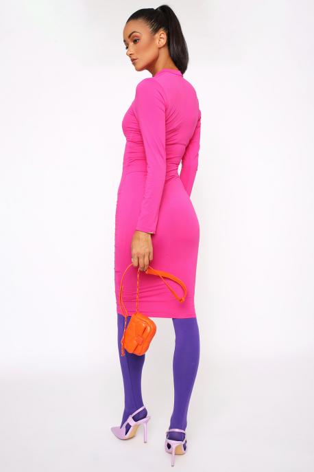 AMNESIA Mexi ruha rózsaszín