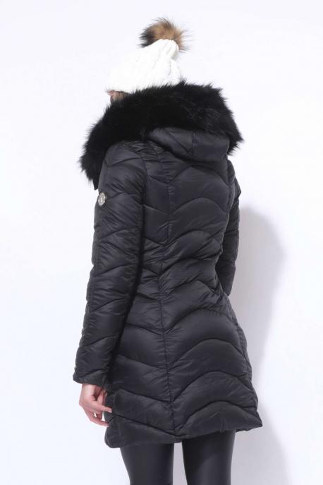 AMNESIA Íves steppelt kabát