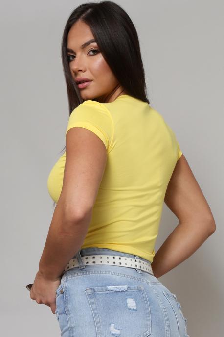 AMNESIA Xihin felső I love BP sárga