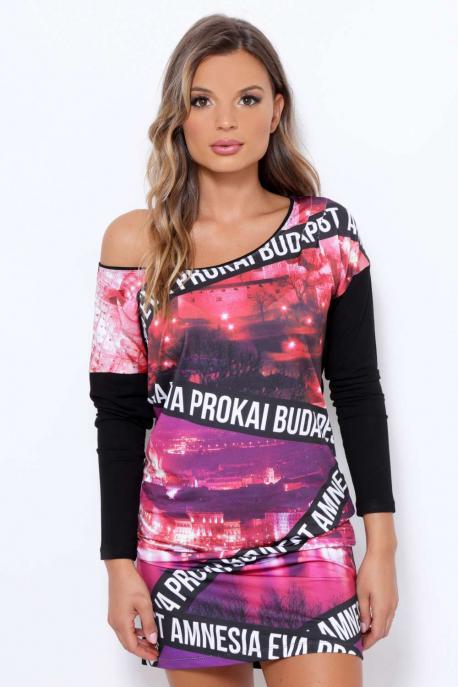 AMNESIA Amcsi mintás ruha