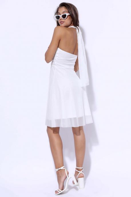 AMNESIA Vegyes ruha fehér tüll