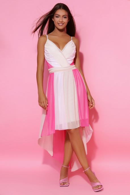 AMNESIA Amerina ruha bézs/rózsaszín/pink