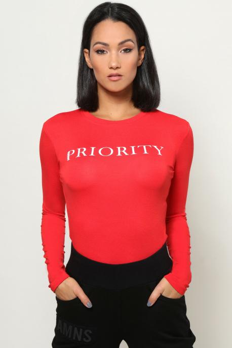 AMNESIA Xihin felső PRIORITY piros