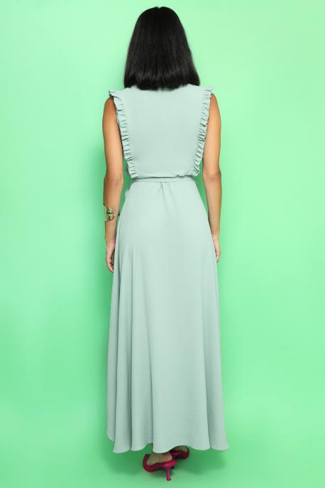 AMNESIA Jivoni hosszú ruha penészzöld