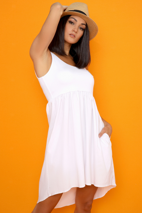 AMNESIA Taparina ruha fehér