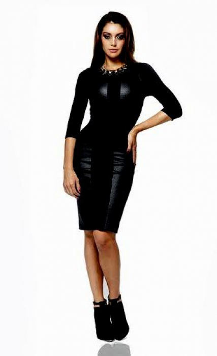 AMNESIA Műbőr ruha