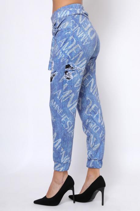 AMNESIA Arzen nadrág kék