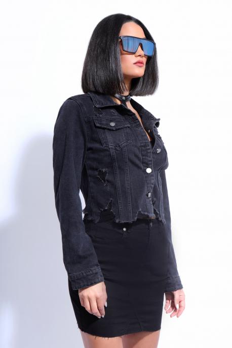 AMNESIA Fekete dzseki