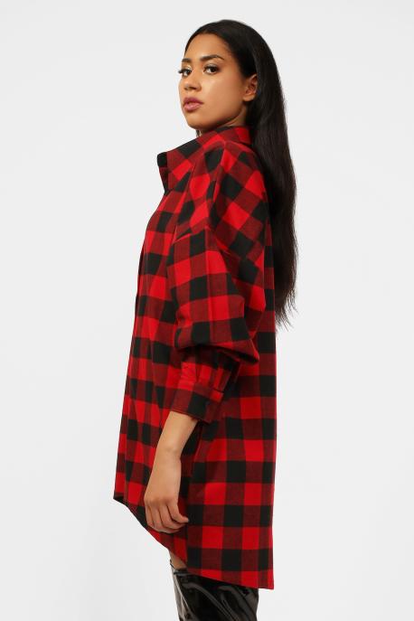 AMNESIA Darcy kockás ing piros/nagykockás