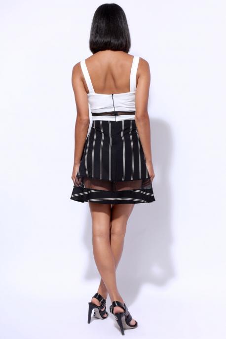 AMNESIA Vegyes ruha fekete