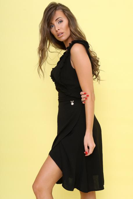 AMNESIA Jivoni rövid ruha fekete