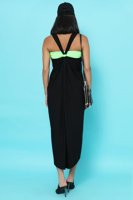 AMNESIA Ricell ruha+ top fekete/ uv zöld