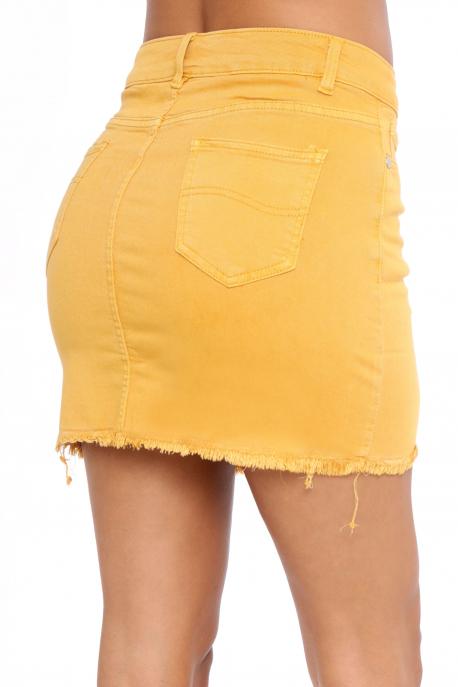 AMNESIA Láncos szoknya sárga