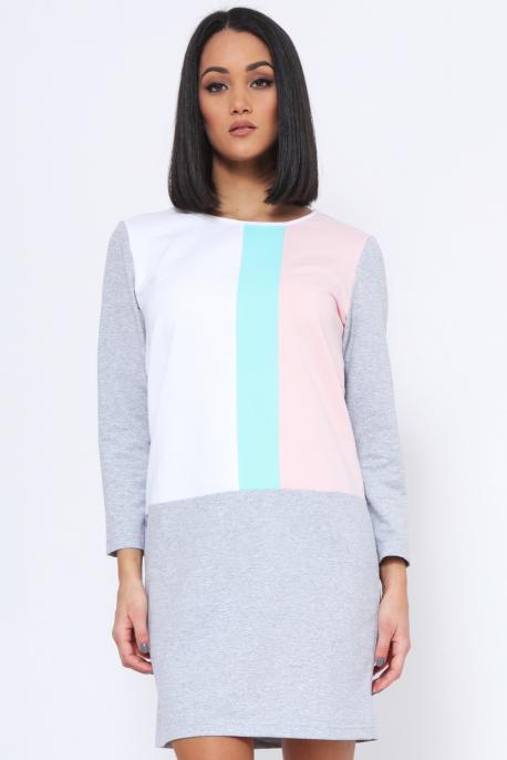 AMNESIA Arabana ruha fehér/kék/púder/szürke