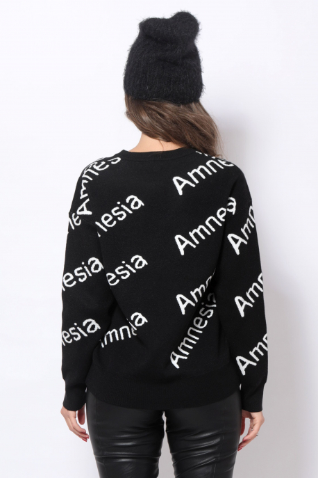AMNESIA Kötött pulóver fekete