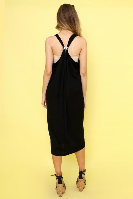 AMNESIA Ricell ruha+ top fekete/bézs
