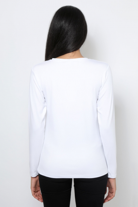 AMNESIA T-póló hosszú ujjú fehér/AMNS