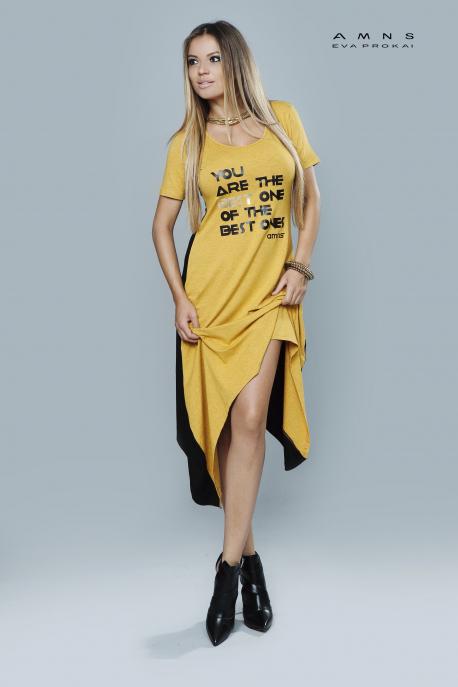 AMNESIA Kétoldalt hosszú ruha