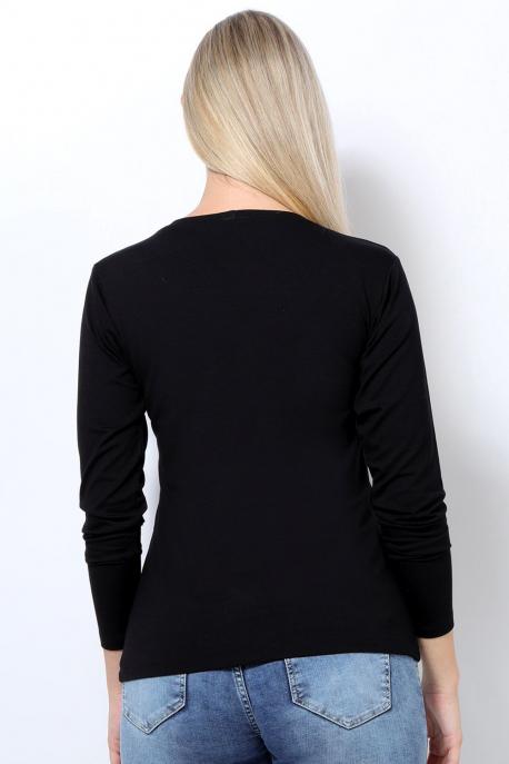 AMNESIA T-póló hosszú ujjú fekete