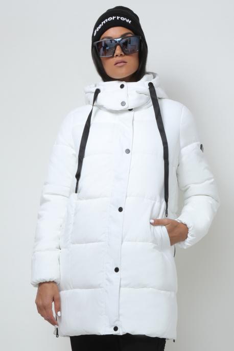 AMNESIA Oldalt zippes 3/4-es kabát fehér