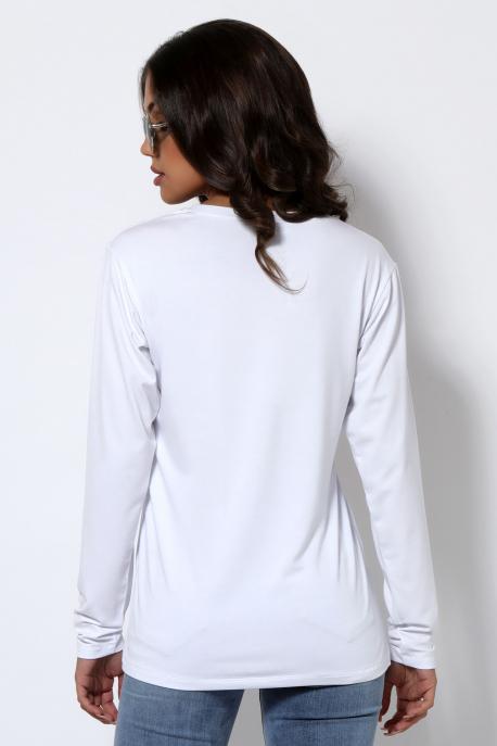 AMNESIA T-póló hosszú ujjú fehér