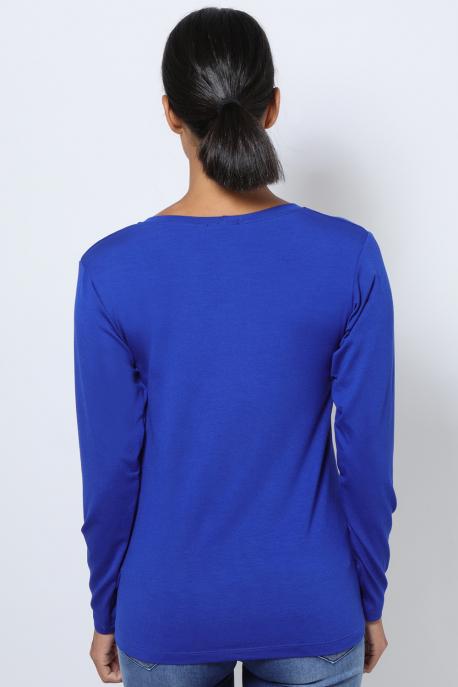 AMNESIA T-póló hosszú ujjú kék city girl